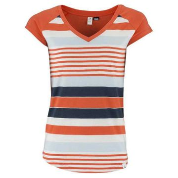 Eider Womens Libellule Tee Fresh Coral Stripes
