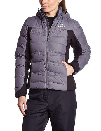 Eider Womens Yumia Mix Jacket Graphite Cloudy