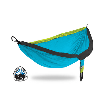 ENO DoubleNest Hammock Continental Divide Trail Coalition (CDT) Special Edition Neon/ Teal/ Charcoal