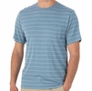 Free Fly Mens Bamboo Channel Pocket Tee Atlantic Blue/ White