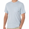 Free Fly Mens Bamboo Channel Pocket Tee Blue Mist/ Atlantic Blue (Close Out)