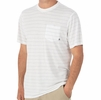 Free Fly Mens Bamboo Channel Pocket Tee White/ Aspen Grey (Close Out)