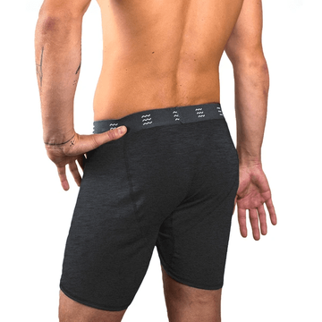 Free Fly Mens Bamboo Comfort Boxer Brief Heather Black