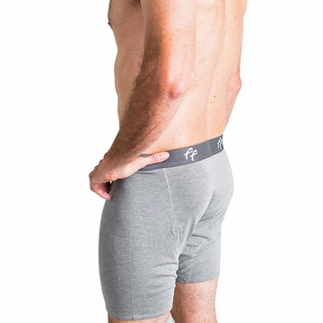 Free Fly Mens Bamboo Comfort Boxer Brief Heather Grey (Close Out)