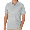Free Fly Mens Bamboo Dockside Polo Aspen Grey/ White