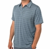 Free Fly Mens Bamboo Dockside Polo Blue Steel/ Aspen Grey (Close Out)