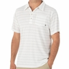 Free Fly Mens Bamboo Dockside Polo White/ Aspen Grey (Close Out)