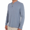 Free Fly Mens Bamboo Flex Henley Heather Denim