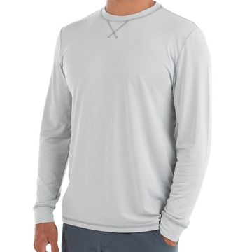 Free Fly Mens Bamboo Flex Long Sleeve Heather Ash