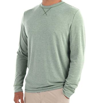 Free Fly Mens Bamboo Flex Long Sleeve Heather Marsh