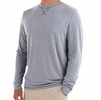 Free Fly Mens Bamboo Flex Long Sleeve Heather Slate Blue