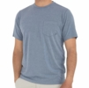 Free Fly Mens Bamboo Flex Pocket Tee Heather Bue Dusk
