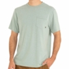 Free Fly Mens Bamboo Flex Pocket Tee Heather Keys Green