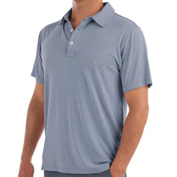 Free Fly Mens Bamboo Flex Polo Heather Denim