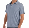 Free Fly Mens Bamboo Flex Polo Heather Denim (Close Out)