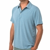 Free Fly Mens Bamboo Flex Polo Heather Marine