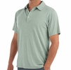 Free Fly Mens Bamboo Flex Polo Heather Marsh (Close Out)