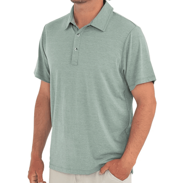 Free Fly Mens Bamboo Flex Polo Heather Spruce