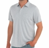 Free Fly Mens Bamboo Heritage Polo Light Heather Grey