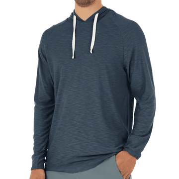 Free Fly Mens Bamboo Slub Hoody True Navy