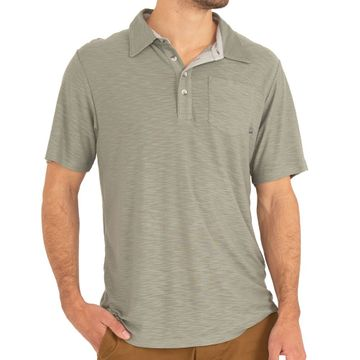 Free Fly Mens Bamboo Slub Polo Sagebrush