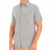 Free Fly Mens Sullivans Short Sleeve Button Up Chambray Blue Dusk