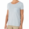 Free Fly Womens Bamboo Channel Pocket Tee Blue Mist/ Atlantic Blue