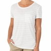 Free Fly Womens Bamboo Channel Pocket Tee White/ Aspen Grey