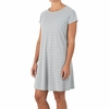 Free Fly Womens Bamboo Dockside Dress Aspen Grey/ White (Close Out)