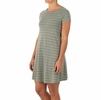 Free Fly Womens Bamboo Dockside Dress Sagebrush/ White Stripe