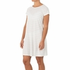 Free Fly Womens Bamboo Dockside Dress White/ Grey Stripe (Close Out)
