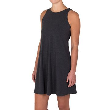 Free Fly Womens Bamboo Flex Dress Heather Black