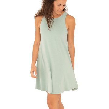 Free Fly Womens Bamboo Flex Dress Heather Keys Green (Close Out)