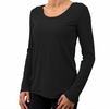 Free Fly Womens Bamboo Flex Long Sleeve Black (Close Out)