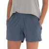 Free Fly Womens Pull-On Breeze Short Blue Dusk