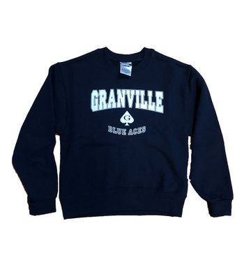 Granville Youth Crew Sweatshirt Navy
