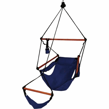 Hammaka Hammocks Original Hanging Chair Wood Dowels Blue