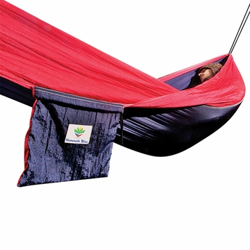 Hammock Bliss Single Navy/ Red