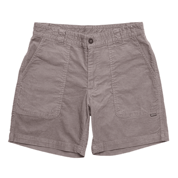Howler Bros Mens Cornerstone Corduroy Shorts Flint Grey (Close Out)