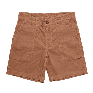 Howler Bros Mens Cornerstone Corduroy Shorts Pecan Brown (Close Out)