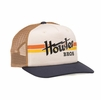 Howler Bros Mens Electric Stripe Snapback Stone/ Gold