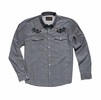 Howler Bros Mens Gaucho Snapshirt Blue Oxford: Howler Posse (Close Out)
