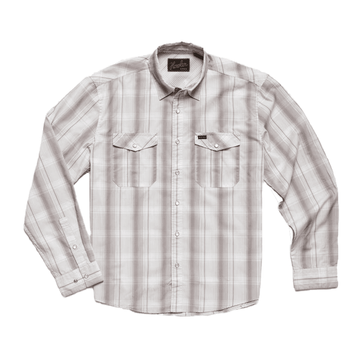 Howler Bros Mens Gaucho Snapshirt Thornton Plaid: Quartz (Close Out)