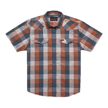 Howler Bros Mens H Bar B Snapshirt Alpine Plaid: Clay Midnight