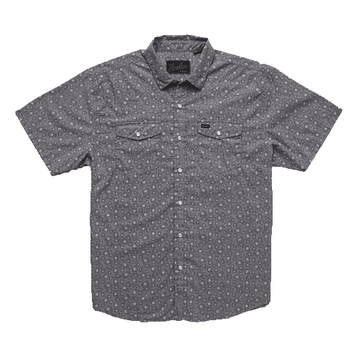 Howler Bros Mens H Bar B Snapshirt Little Agave: Night Blue Oxford