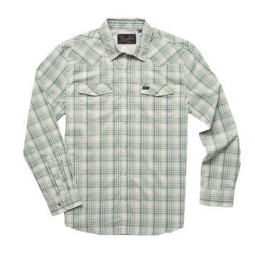 Howler Bros Mens H Bar B Tech Longsleeve Bolan Plaid: Juniper Green