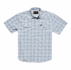 Howler Bros Mens H Bar B Tech Shirt Bolan Plaid: Mystic Blue