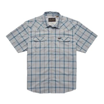 Howler Bros Mens H Bar B Tech Shirt Portella Plaid: Pigeon Grey