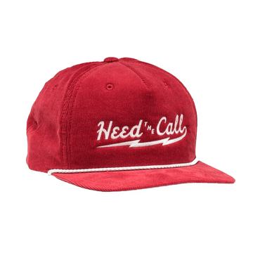Howler Bros Mens HTC Lightning Snapback Red Corduroy (Close Out)