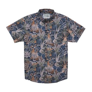 Howler Bros Mens Mansfield Shirt Glades: Midnight Blue